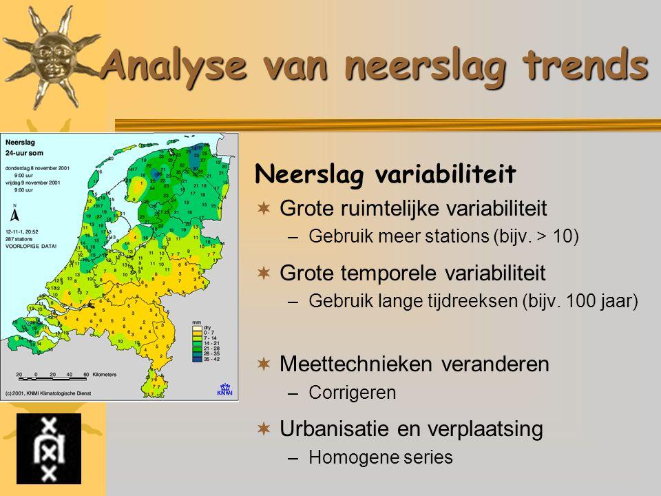 Analyse van neerslag trends