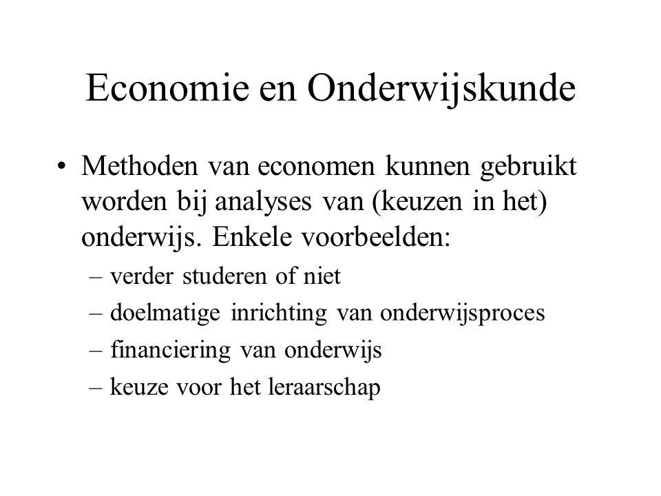 Economie en Onderwijskunde