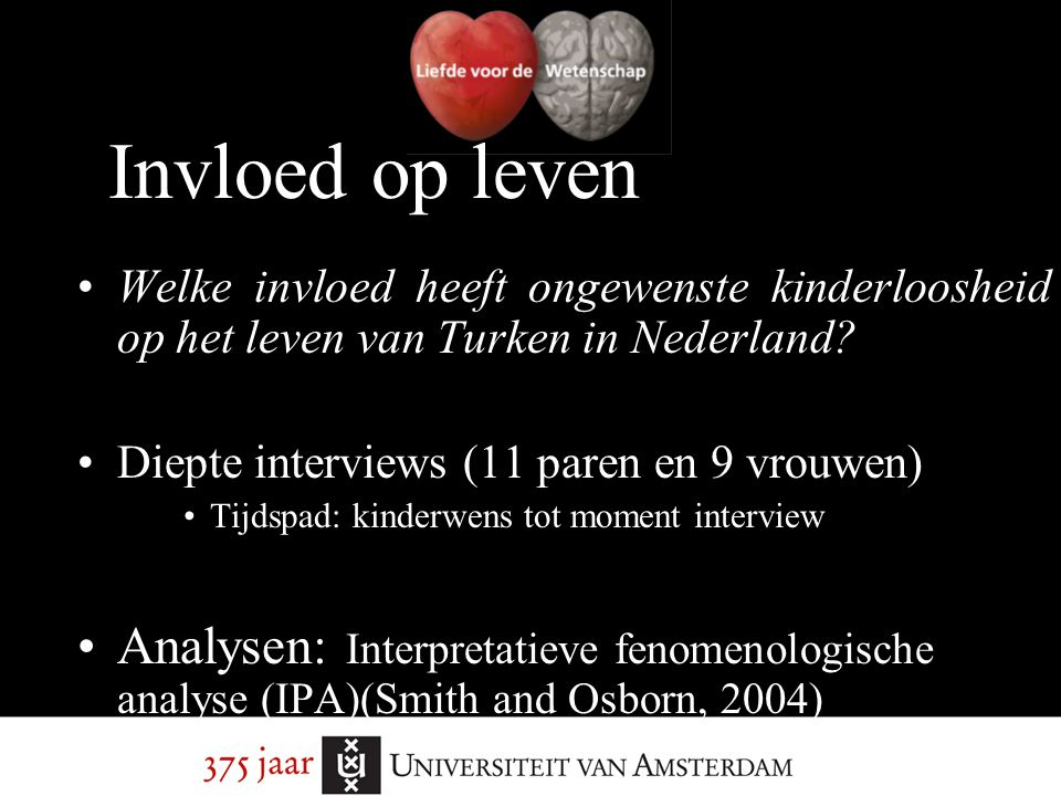 Invloed op leven Welke invloed heeft ongewenste kinderloosheid op het leven van Turken in Nederland