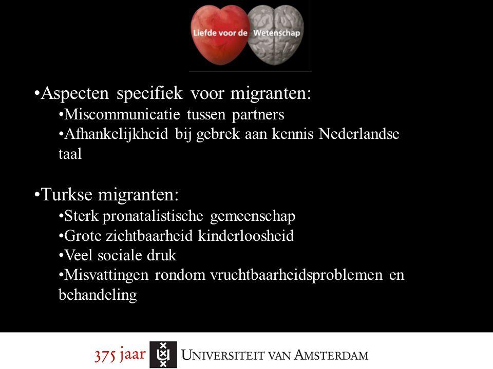 Aspecten specifiek voor migranten: