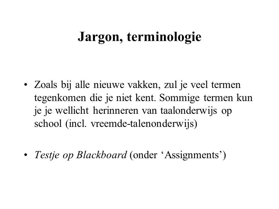 Jargon, terminologie