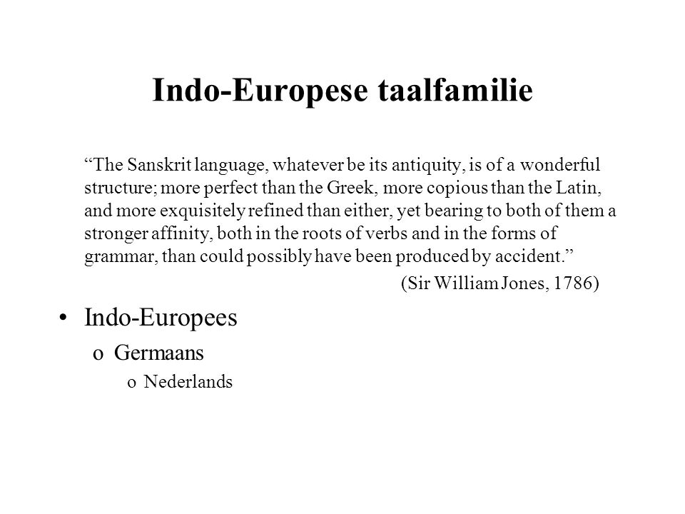 Indo-Europese taalfamilie