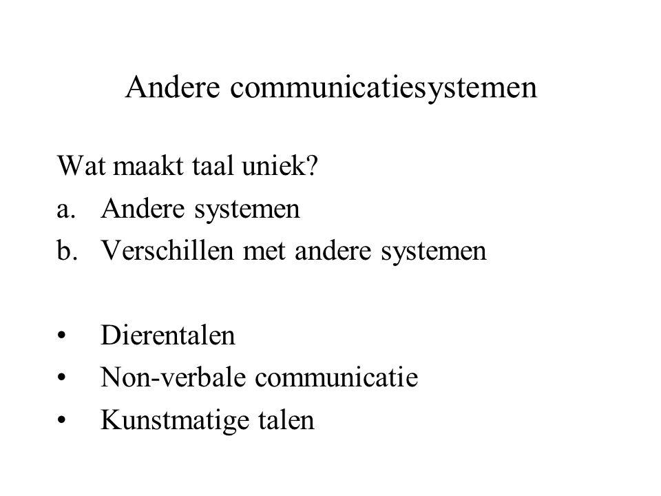 Andere communicatiesystemen