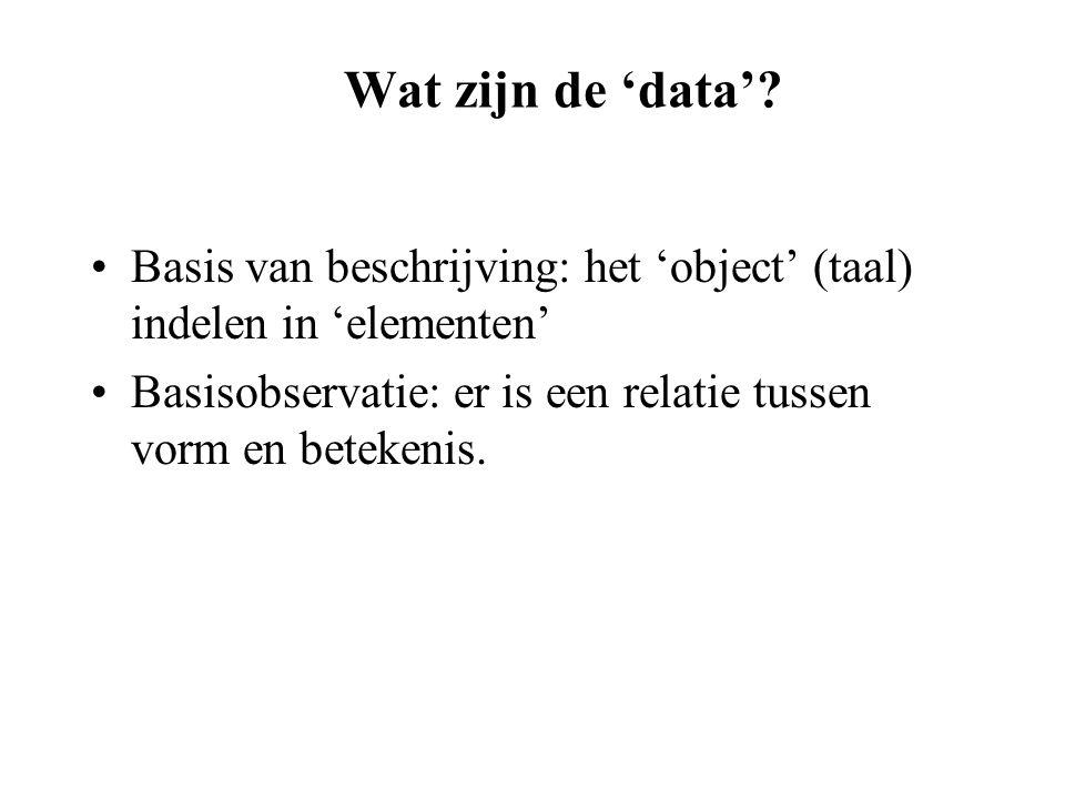 Wat zijn de 'data'.