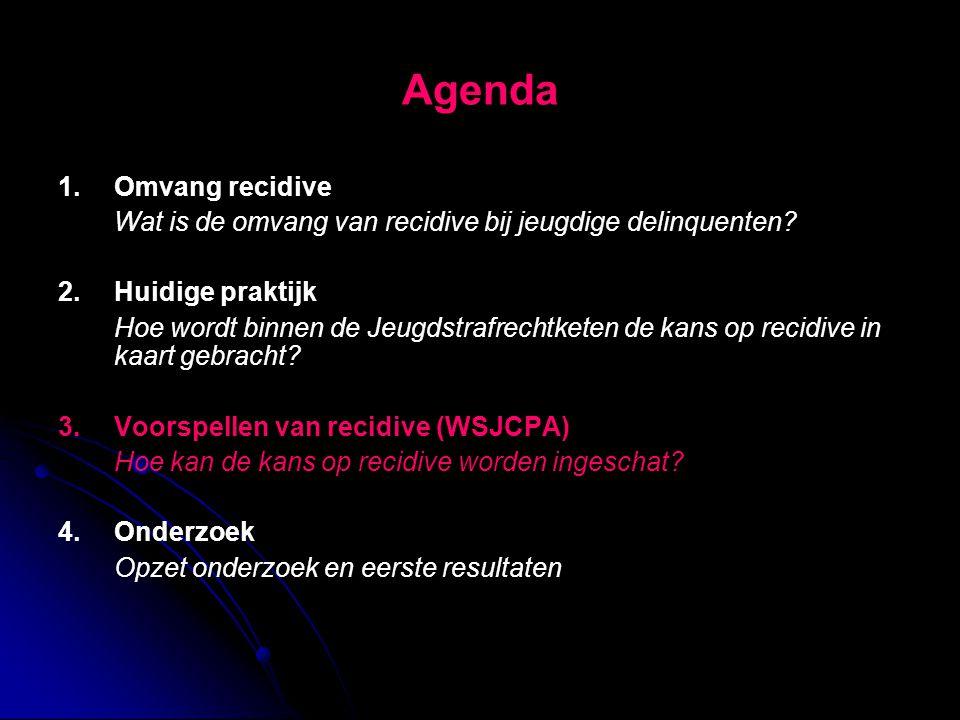 Agenda 1. Omvang recidive