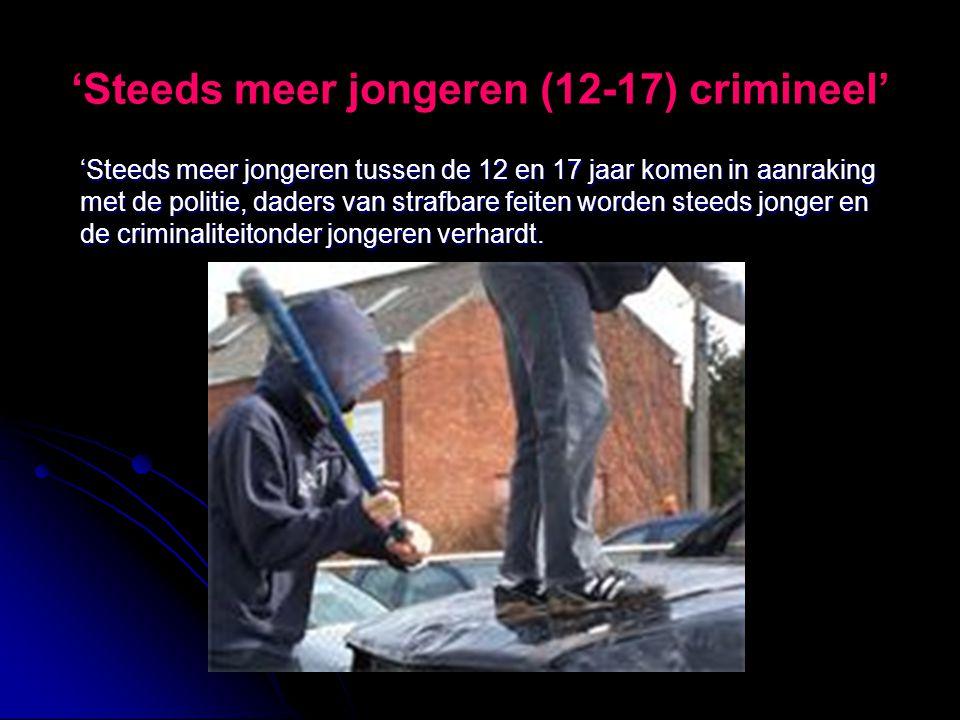 'Steeds meer jongeren (12-17) crimineel'