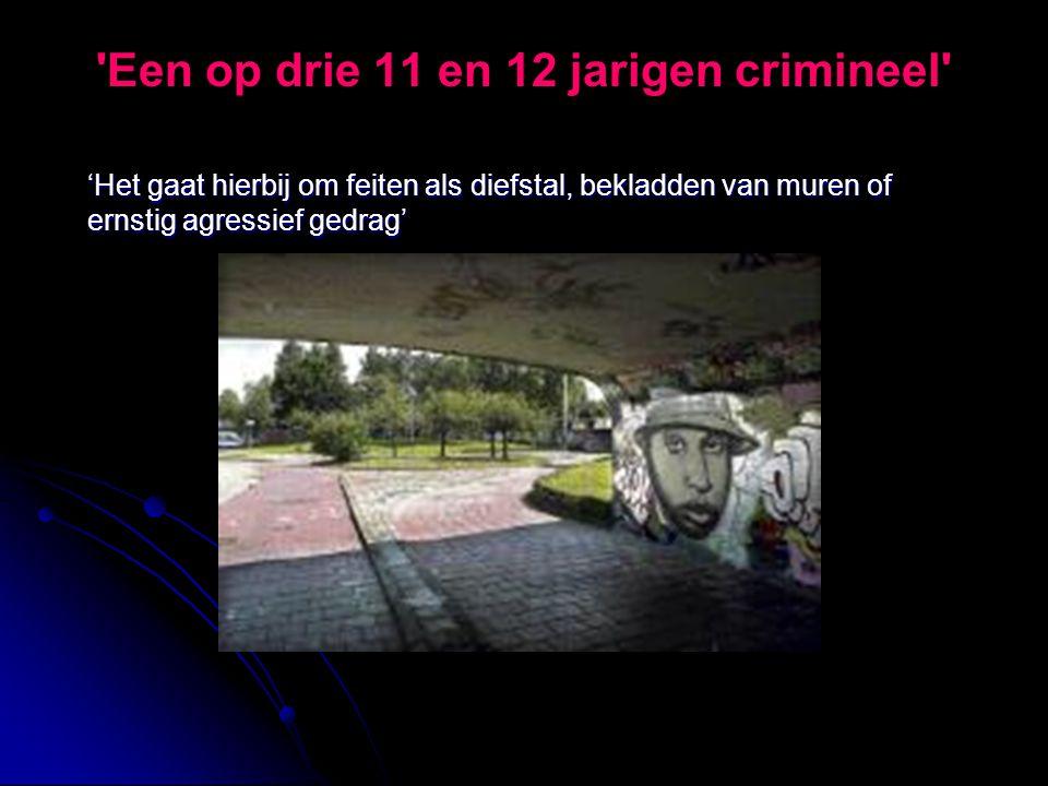 Een op drie 11 en 12 jarigen crimineel