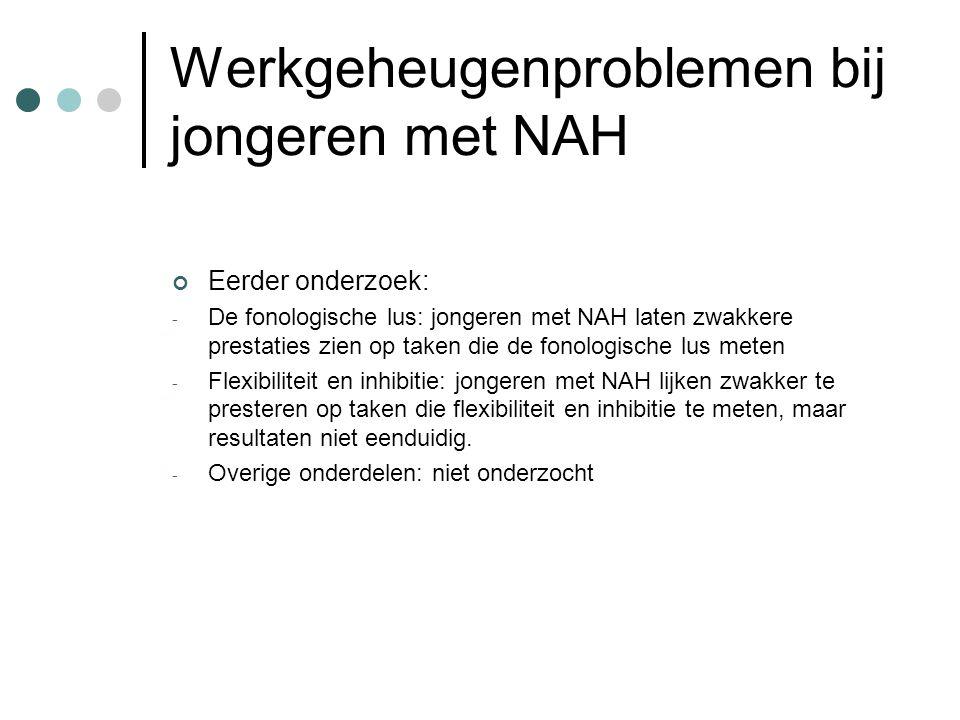 Werkgeheugenproblemen bij jongeren met NAH
