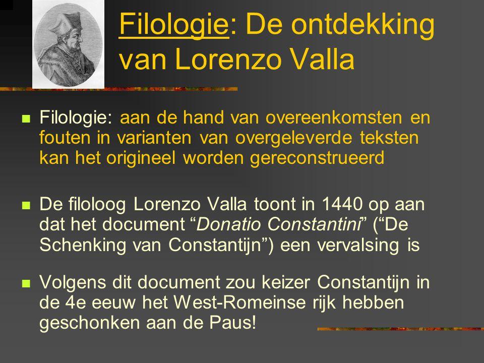 Filologie: De ontdekking van Lorenzo Valla