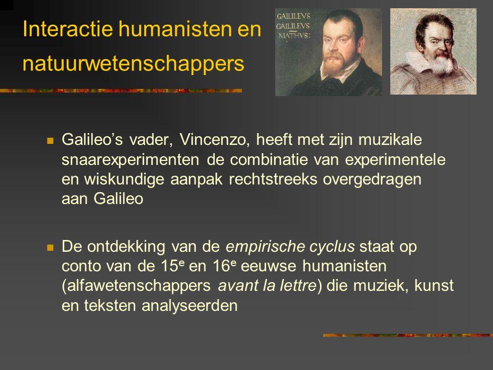 Interactie humanisten en natuurwetenschappers