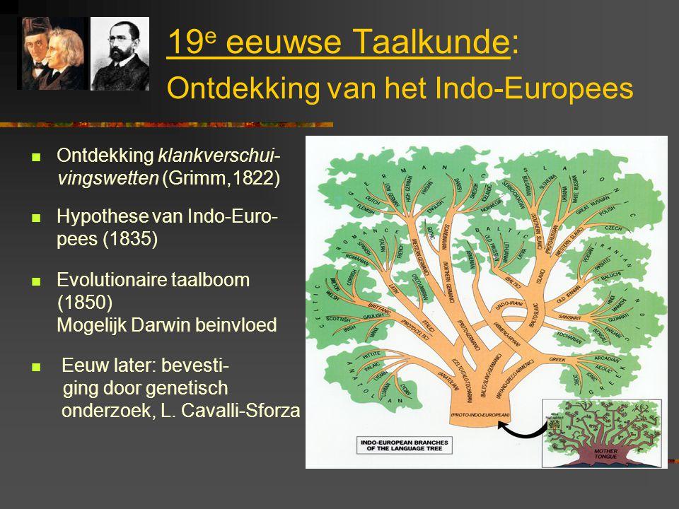 19e eeuwse Taalkunde: Ontdekking van het Indo-Europees