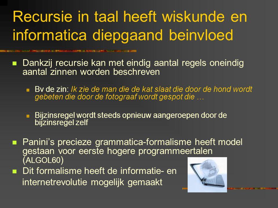 Recursie in taal heeft wiskunde en informatica diepgaand beinvloed