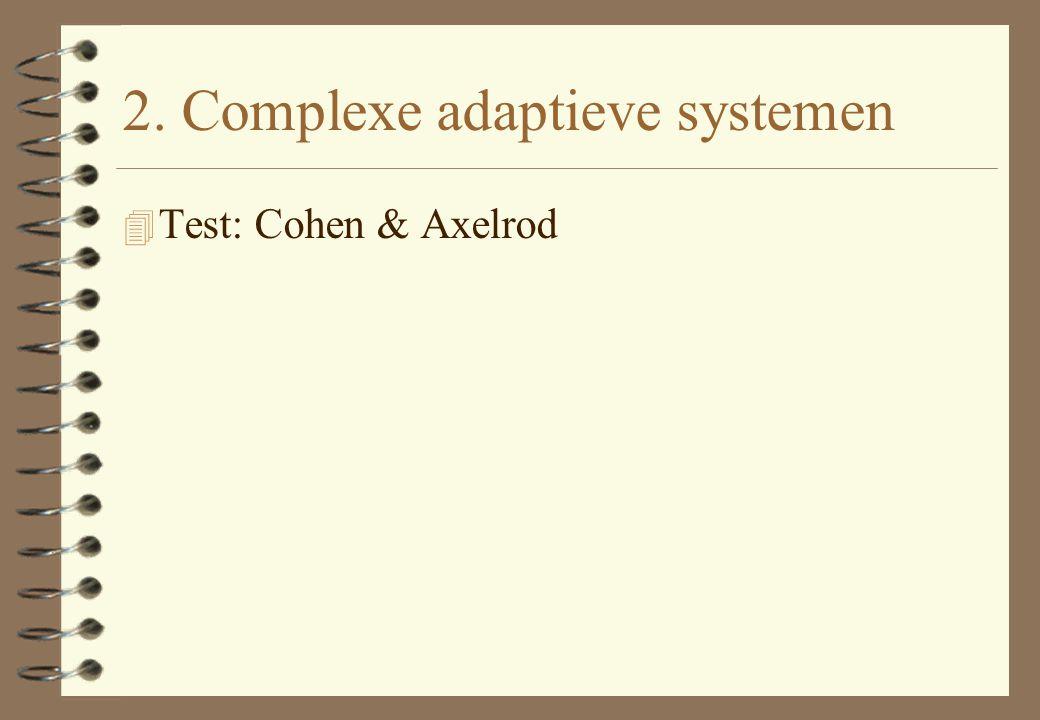 2. Complexe adaptieve systemen