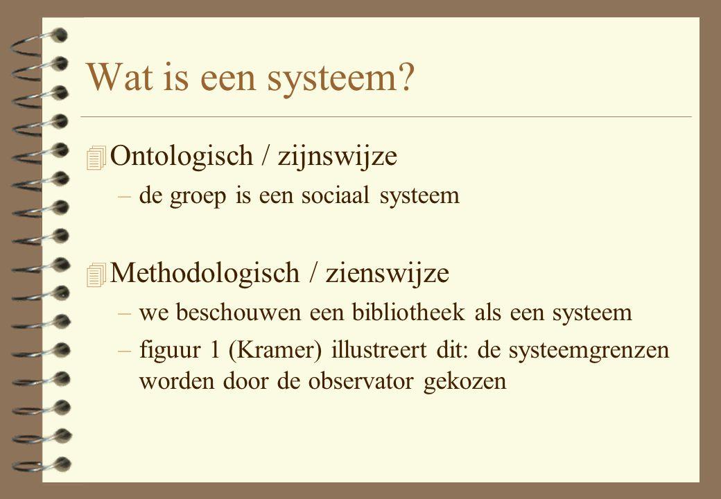 Wat is een systeem Ontologisch / zijnswijze