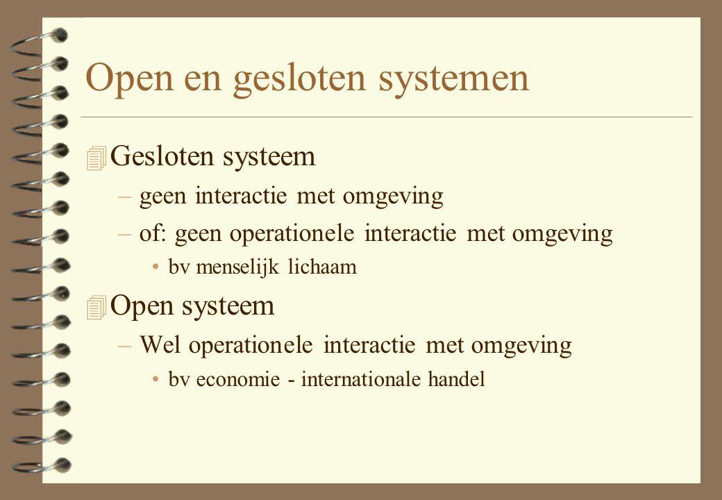 Open en gesloten systemen