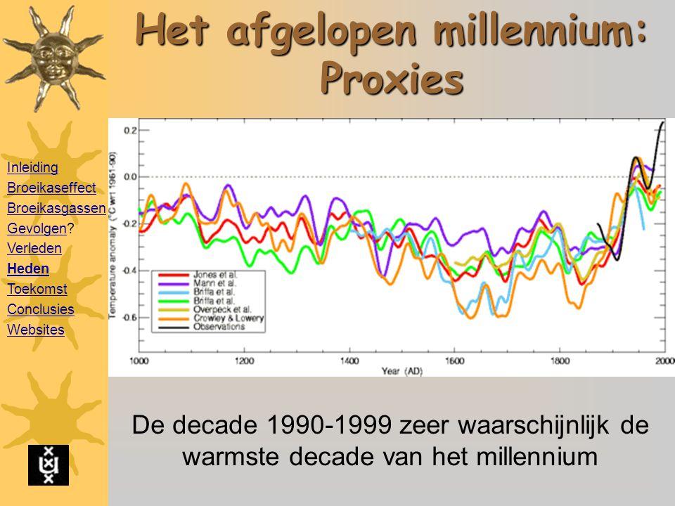 Het afgelopen millennium: Proxies