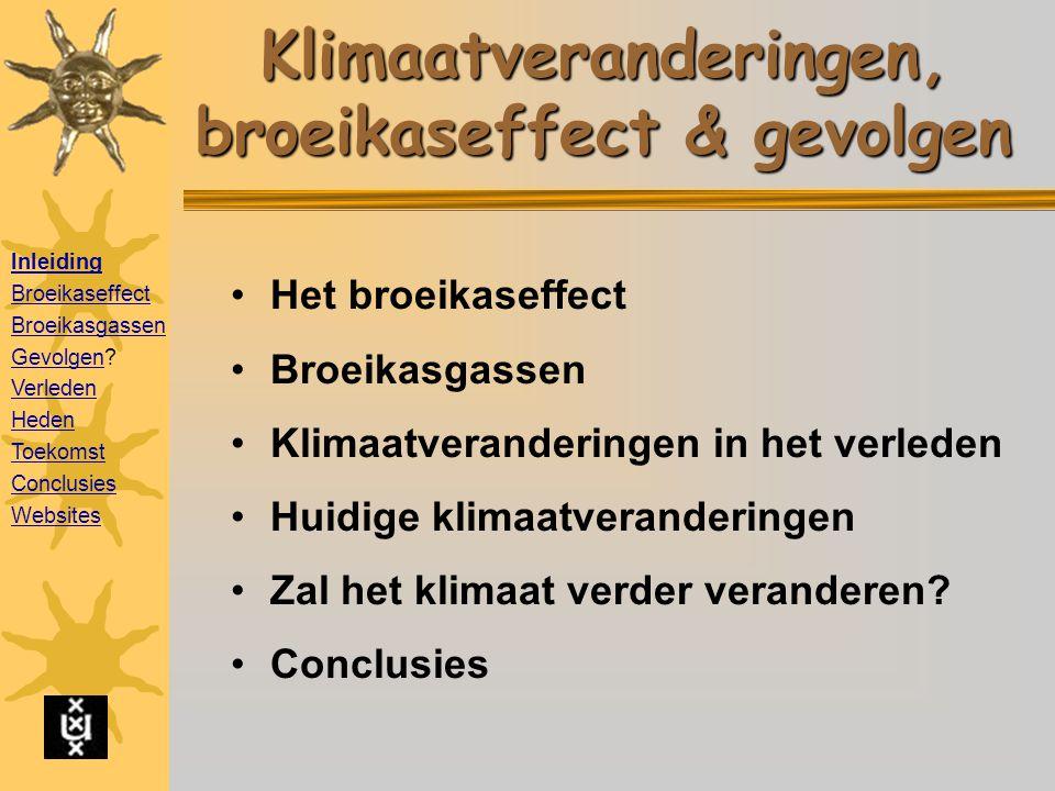 Klimaatveranderingen, broeikaseffect & gevolgen