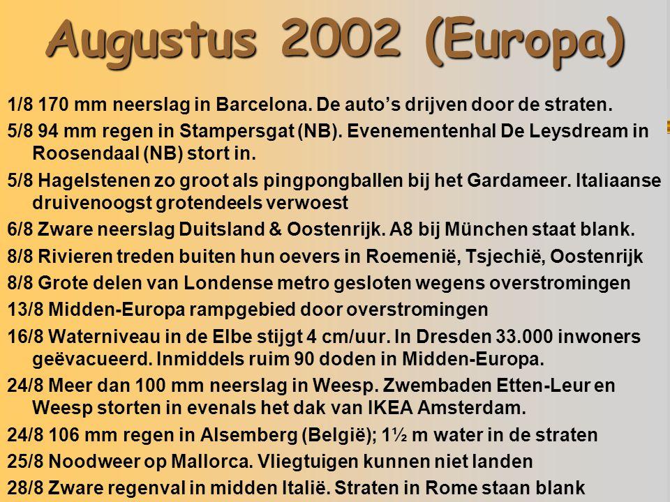Augustus 2002 (Europa) 05/08/02 Italië 13/08/02 Tsjechië