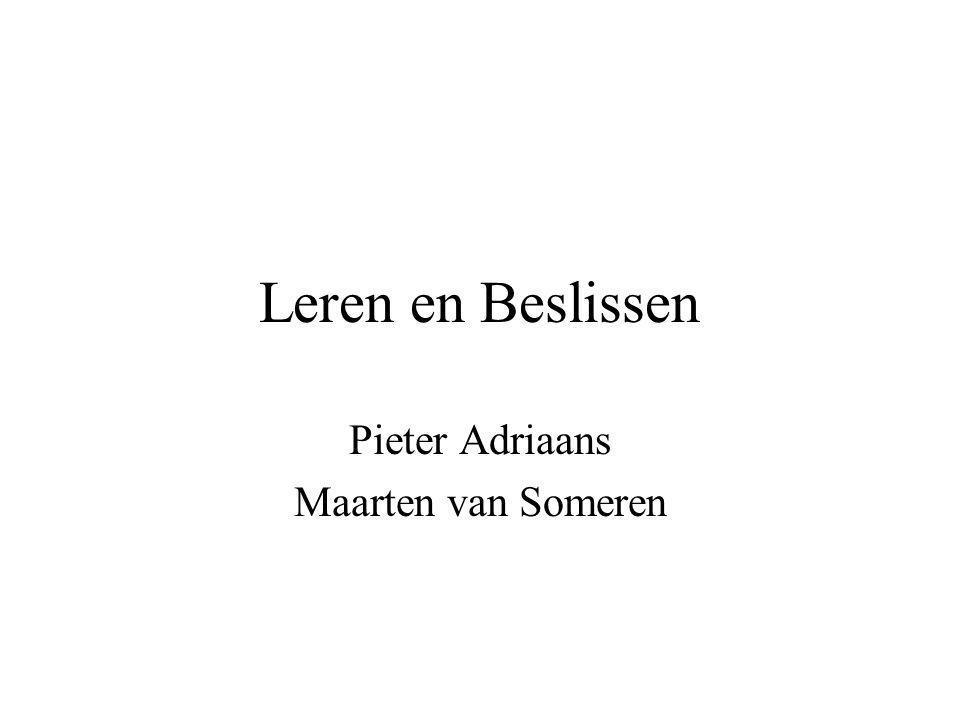 Pieter Adriaans Maarten van Someren