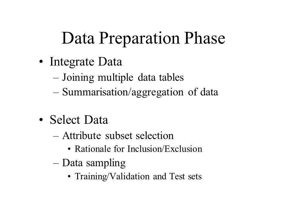 Data Preparation Phase
