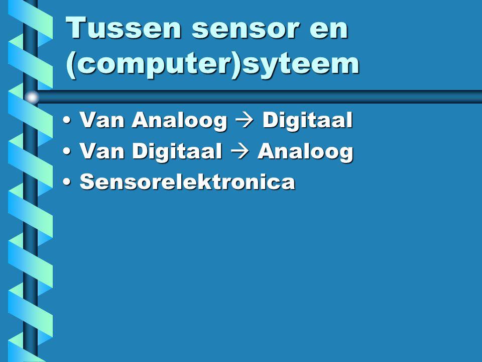 Tussen sensor en (computer)syteem
