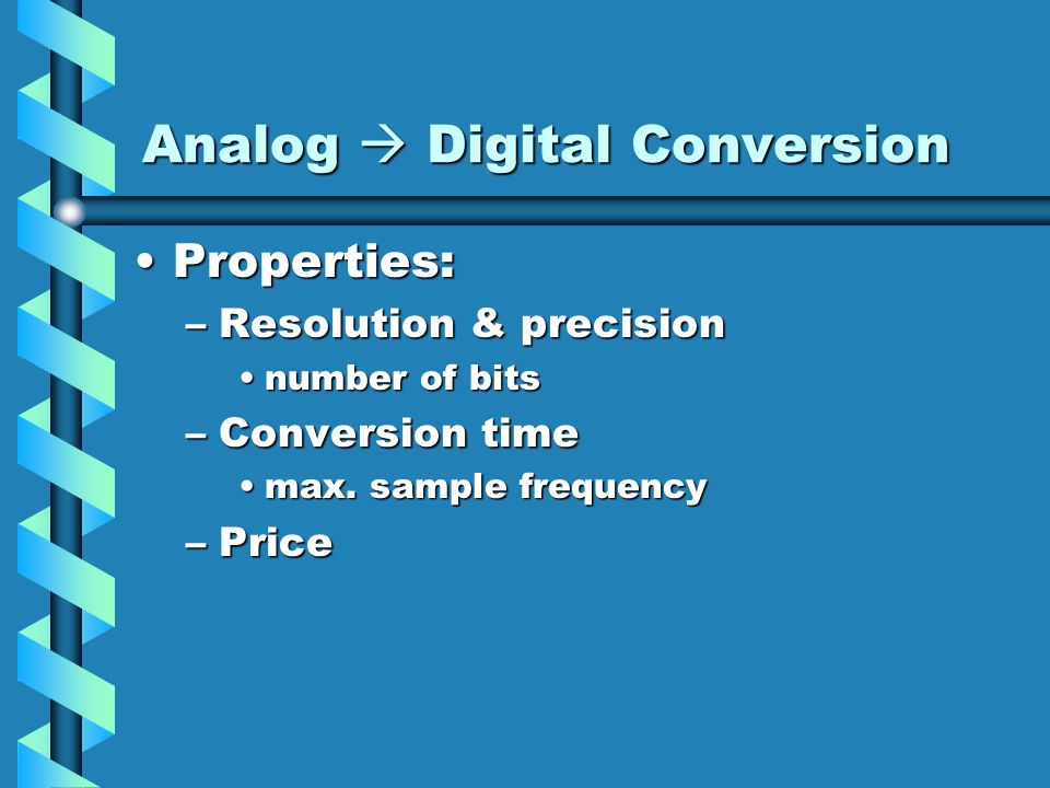 Analog  Digital Conversion