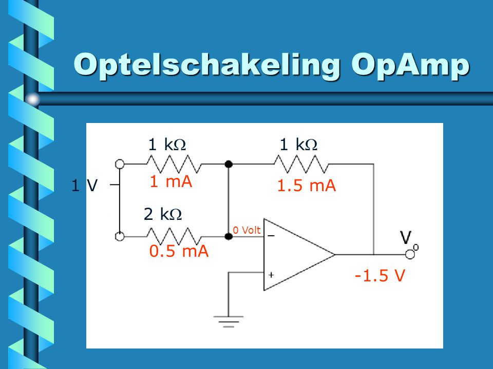Optelschakeling OpAmp