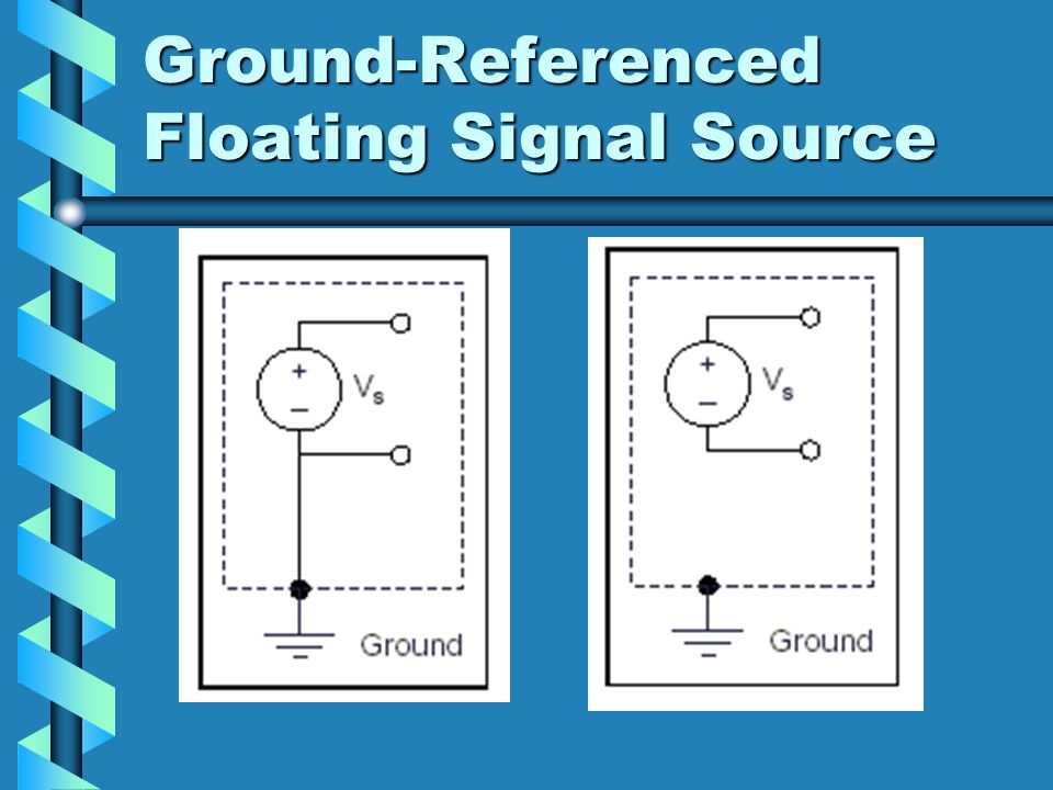 Ground-Referenced Floating Signal Source