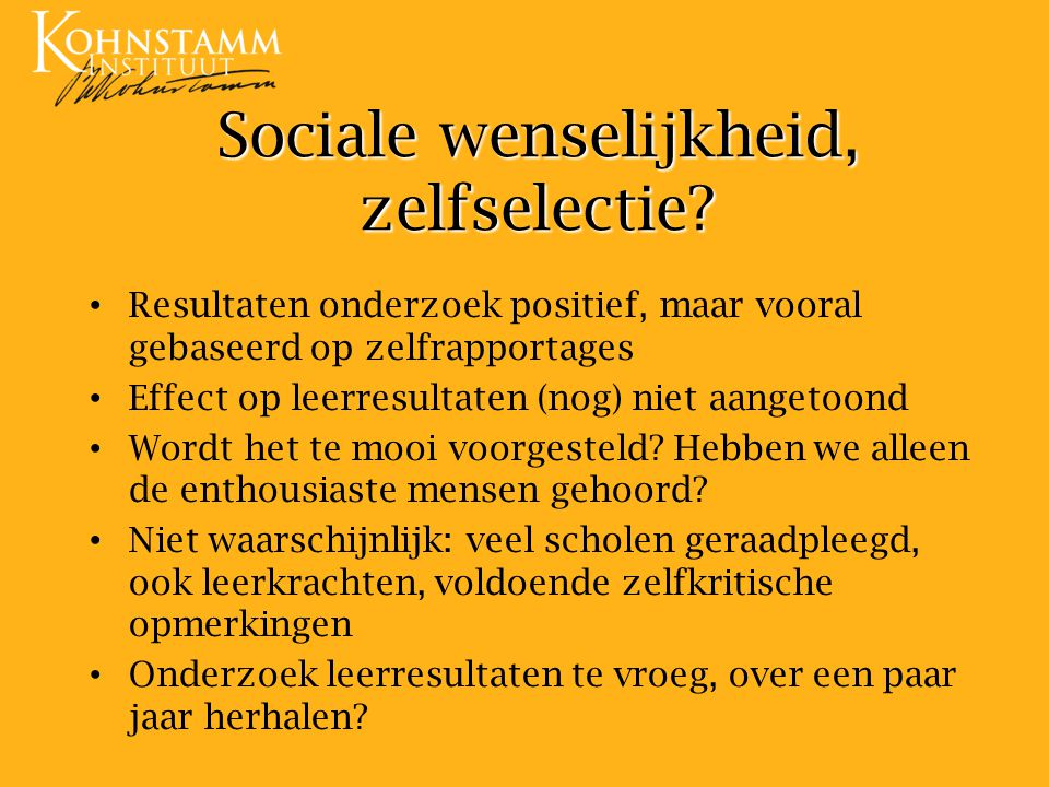 Sociale wenselijkheid, zelfselectie