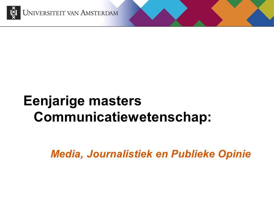 Eenjarige masters Communicatiewetenschap: