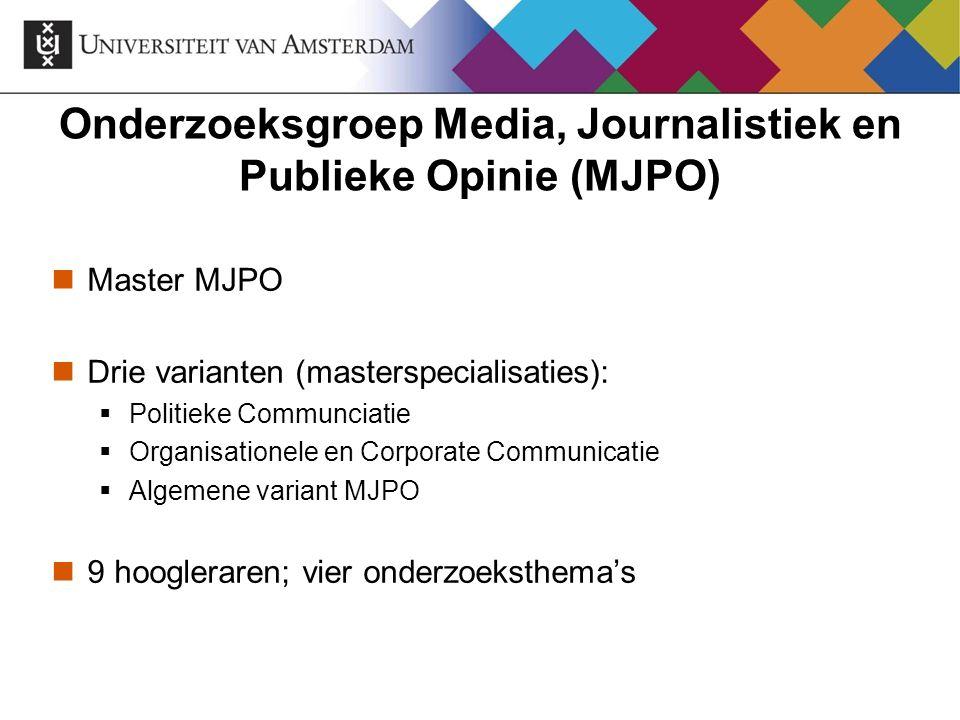 Onderzoeksgroep Media, Journalistiek en Publieke Opinie (MJPO)