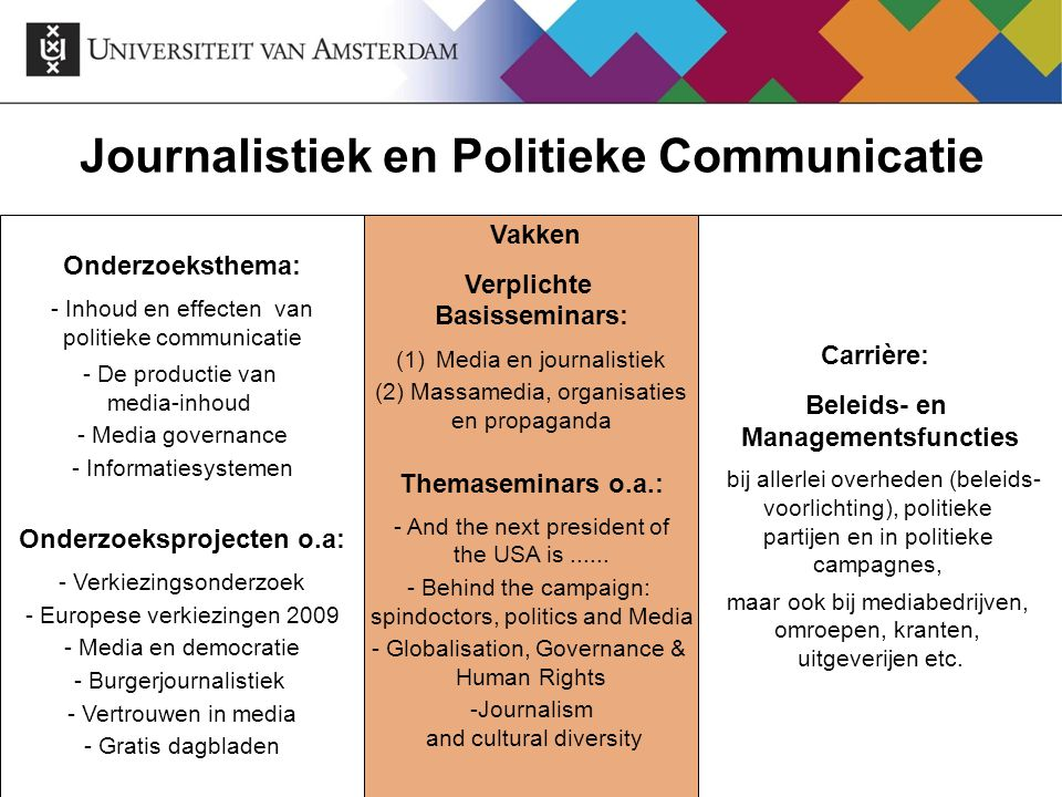 Journalistiek en Politieke Communicatie