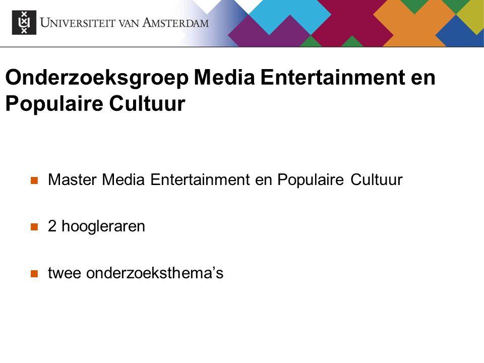 Onderzoeksgroep Media Entertainment en Populaire Cultuur