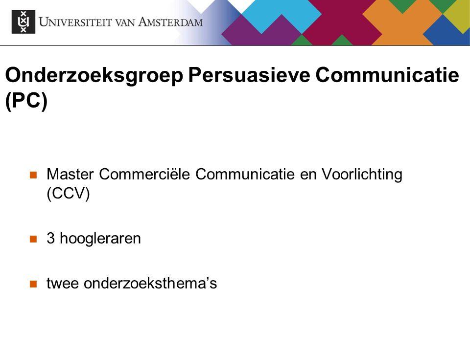 Onderzoeksgroep Persuasieve Communicatie (PC)