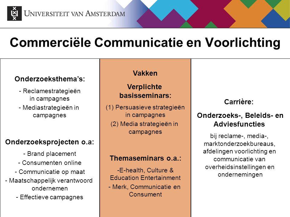 Commerciële Communicatie en Voorlichting