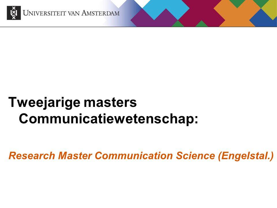 Tweejarige masters Communicatiewetenschap: