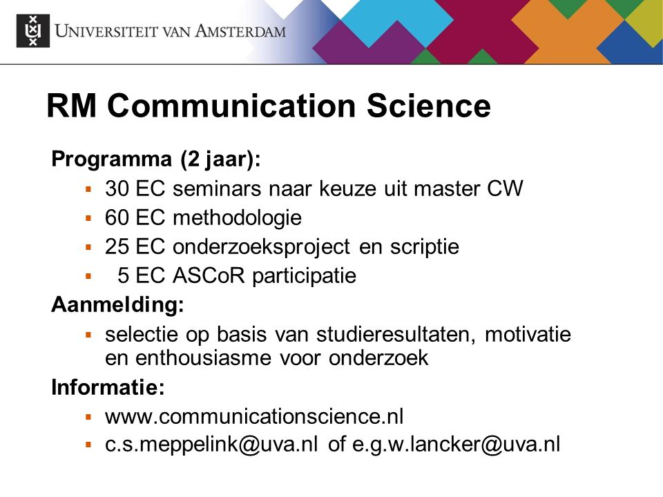 RM Communication Science