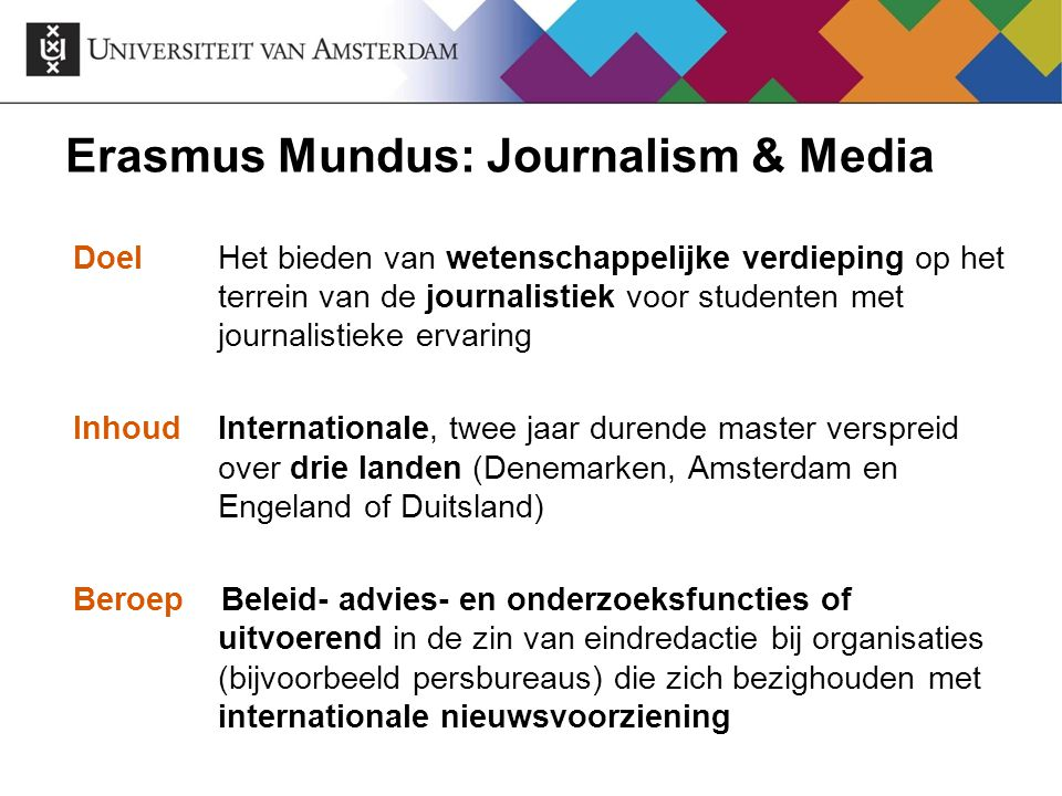 Erasmus Mundus: Journalism & Media