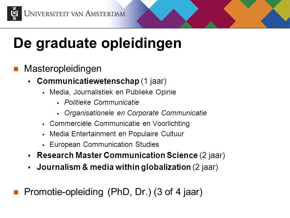 De graduate opleidingen