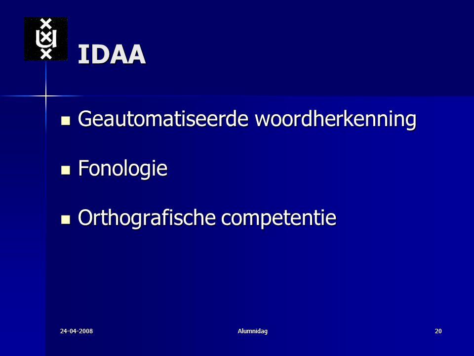 IDAA Geautomatiseerde woordherkenning Fonologie