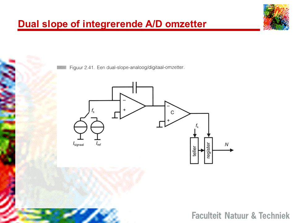Dual slope of integrerende A/D omzetter
