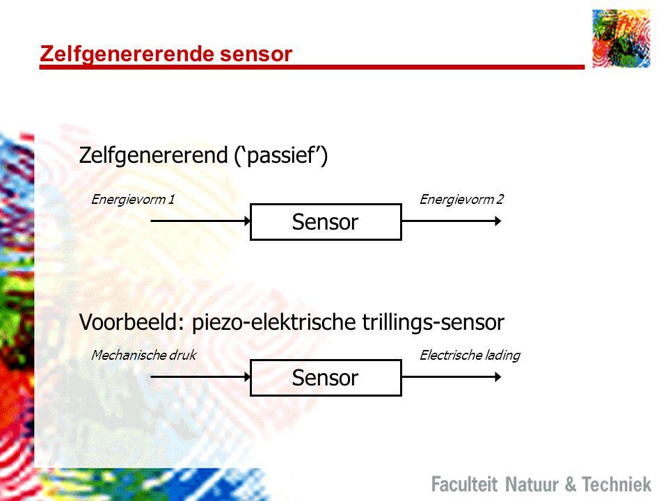 Zelfgenererende sensor