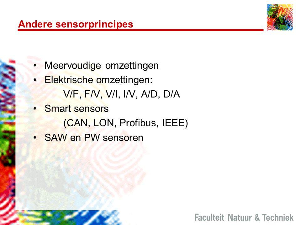 Andere sensorprincipes