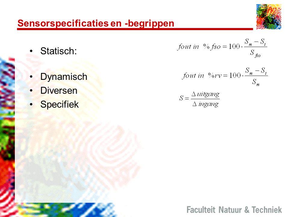 Sensorspecificaties en -begrippen