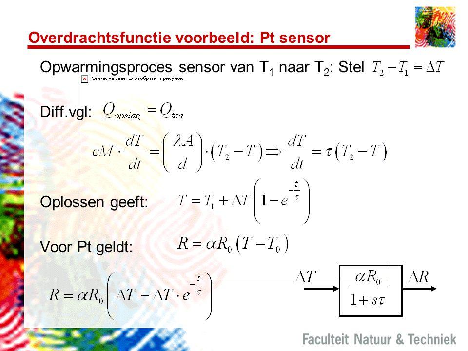 Overdrachtsfunctie voorbeeld: Pt sensor