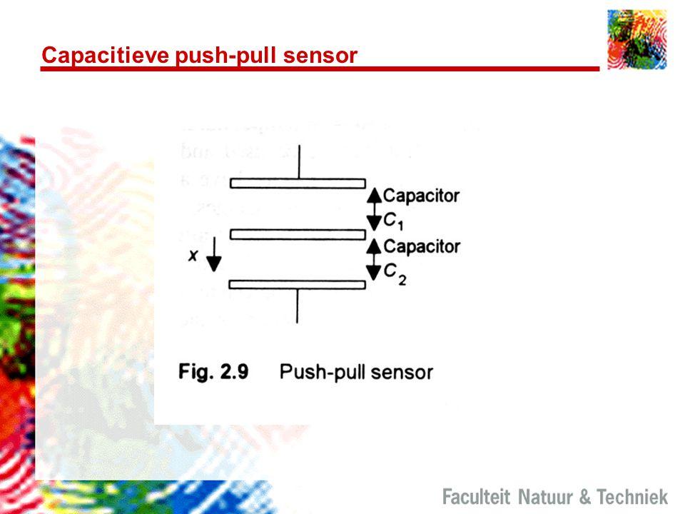 Capacitieve push-pull sensor