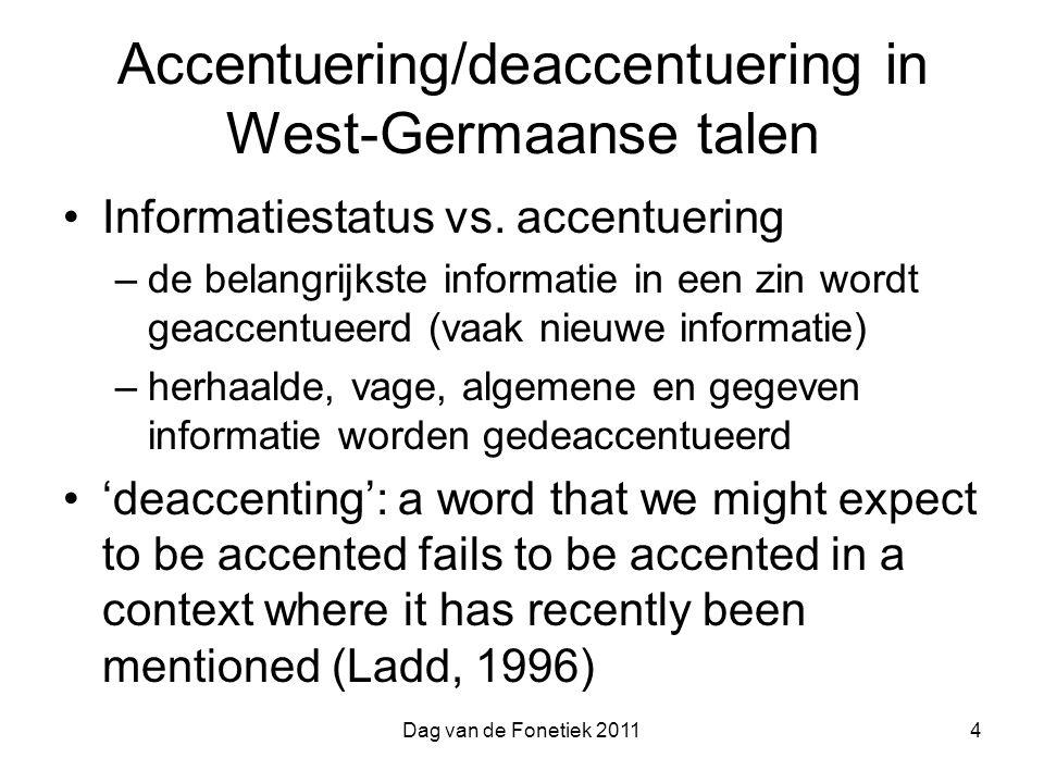 Accentuering/deaccentuering in West-Germaanse talen