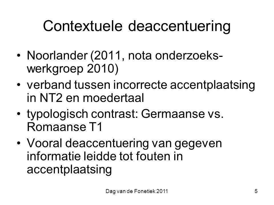 Contextuele deaccentuering