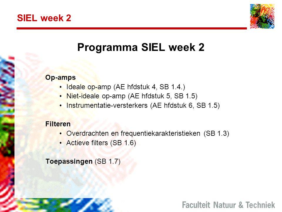Programma SIEL week 2 SIEL week 2 Op-amps