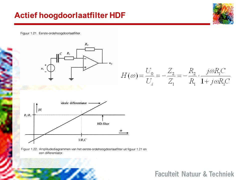 Actief hoogdoorlaatfilter HDF
